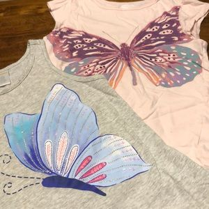 Two Butterfly T-shirts